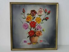 Gouache Signed Floral Art Paintings