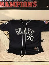 Josh Gibson Homestead Grays Authentic Headgear Throwback Jersey Size 4XL Blue