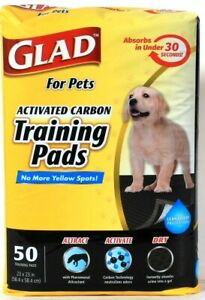 """Glad For Pets 23"""" X 23"""" Activated Carbon Pheromonal Attract 50 Ct Training Pads"""