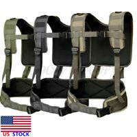 Tactical Harness Vest Waist Battle Belt Suspenders Hunting Molle Chest