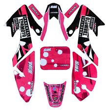 Pink Decals Emblems Stickers Graphics for CRF50 50CC -125CC Pit Dirt Bike Atomik
