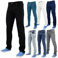Mens Slim Fit Jeans Stretch Basic Denim Pants Trousers All Waist & Leg Sizes