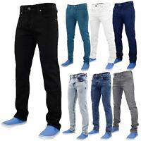 New Mens Slim Fit Jeans Stretch Basic Denim Pants Trousers All Waist & Length