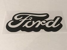 Ford  STICKER DECAL Vinyl Black