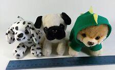 Lot of 3 Tiny Puppy Plush Gund Gift Set- Shmossy, Itty Bitty Boo-Rex & Dalmatian