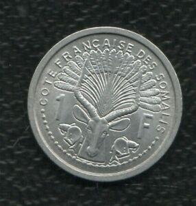 COTE FRANCAISE DES SOMALI 1 FRANCS 1959