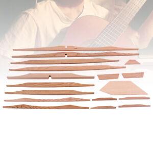 17Pcs Sitka Spruce Brace Wood Kit Acoustic Guitar Luthier DIY Parts Smooth CA
