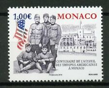 Monaco 2019 MNH WW1 WWI US Troops Convalesence 1v Set Military & War Stamps