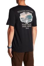 Volcom Men's L Short Sleeve T-Shirt Black Pipe Pro Hawaii North Shore Oahu 2018