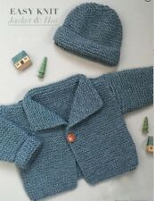 Baby Aran Jacket & Hat - Easy Beginner  0 - 18 Months  Knitting Pattern