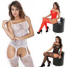 Women Sexy/Sissy Lingerie Babydoll Underwear Body Stocking One Size 6/8/10-18/20