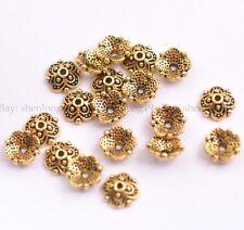 100PCS Tibetan Silver Spacer beads Flowers Bead Caps Findings 8MM SH3113