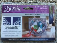 Die'sire Edge'ables Lace Corner Metal Die by Crafter's Companion NEW