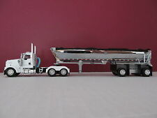 DCP 1/64 SCALE W-900 KENWORTH DAY CAB WHITE WITH MAC ROUND BOTTOM SPREAD AXLE