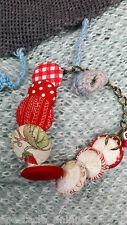 Armband * Stoffbezogen Textil * Polka Dots * Blume * Landhhaus Shabby * Cute