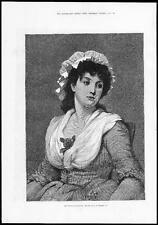 """1878-FINE ART PRINT """"LA FIGLIA DEL VICARIO"""" di Leslie G D (242)"""