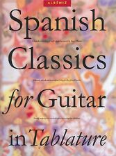 Spanish Classics for Guitar in Tablature Sheet Music Book NEW 014031054
