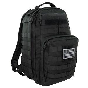 LINE2design First Aid Trauma Backpack - EMS Medical Tactical Molle Bag - Black