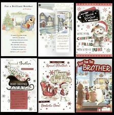 BROTHER ~ Quality CHRISTMAS CARD ~ WITH GREAT VERSES ~ CHOICE OF DESIGN