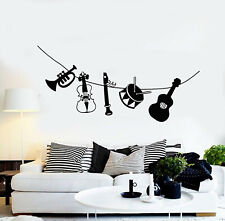 1062ig Vinyl Wall Decal Violin Musical Instrument Store Musician Stickers