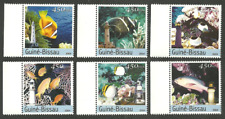 GUINEA BISSSAU 2004 FISHES FISH LIGHTHOUSES CORALS SET MNH