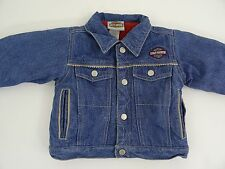 Harley Davidson Denim Jacket Fleece Lining Embroidered size 2T