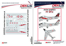 Decals Avon Sabre Indonesian TNI-AU SKU14 Special Marking 1/144 Scale