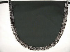 NEW ADULTS BLACK POLKA DOT FRILLY WAIST APRON - KITCHEN MAID COSTUME