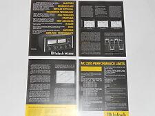 McIntosh MC2205 Amplifier Brochure 4 pages, Specs, Info, Articles