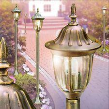 Pollerleuchte Wegelampe Aussen Steh Leuchte schwarz Gold Wege Lampen Garten Glas
