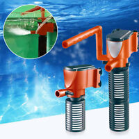UK_ 3 IN 1 AQUARIUM FILTER SUBMERSIBLE OXYGEN INTERNAL FISH TANK AIR WATER PUMP