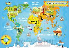 Poster A3 Mapa Mundo World Map Biodiversidad Biodiversity Diversity Life 04