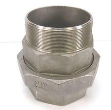 """Edelstahl Fitting Verschraubung Verbinder IG/AG 4"""" AISI 316 flach dichtend NEU"""