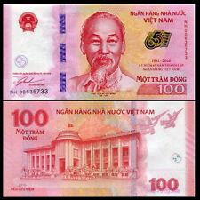 Vietnam 2016 year 100 Dong BrandNew Commemorative Banknotes