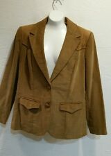 Wmns Vintage PIONEER WEAR Western Blazer Jacket Corduroy Suede Elbow Patches 12