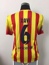 XAVI #6 Barcelona Away Football Shirt Jersey 2013/14 (M)