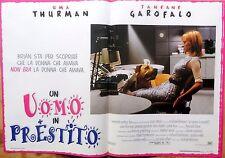 fotobusta lobby card UOMO IN PRESTITO UMA THURMAN GAROFALO CINEMA