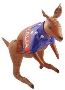 70cm Inflatable Kangaroo With Australian Flag Cape Party Decoration Animal UK