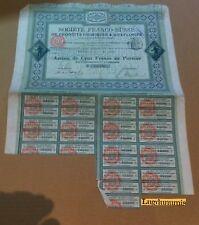 Lote de 5 Postal-sociedad Franco rusa Productos Químico & Explosivos Action 100