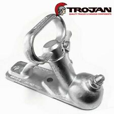 Trojan Trailer Standard Coupling 2 Hole Zinc Plated 2000kg 50mm Quick Release