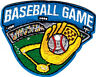 """""""BASEBALL GAME"""" Iron On Embroidered Patch Sports Games"""