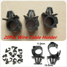 20Pcs Car Wiring Harness Fastener Clips Corrugated Pipe Tie Wrap Cable clamp