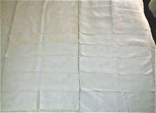"Set 12 Very Fine Vintage White Irish Linen Large Damask Table Napkins - 21""X21"""
