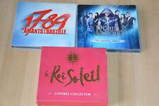 lot 3 coffrets CD comédies musicales : Le Roi Soleil, Robin des Bois, 1789