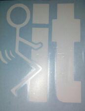 "Stick Figure Humping IT -F#@K It - Screw It - 3""  Fuck-It Decal/ Sticker"