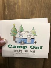 Camp On! Holiday Christmas Greeting Cards - Set of 10 Crisp White *Special!