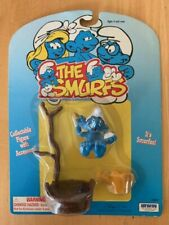 Smurfs Bath Tub Smurf 40235 Bucket Tree Vintage Figure PVC Toy Peyo Figurine lot