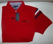 NWT MENS Tommy Hilfiger S/S Polo Shirt~SLIM FIT~RED~SZ XL