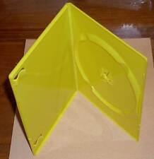 DVD Hüllen Case Slim 1fach DVDhülle Slimm dünn 5mm transparent gelb Neu
