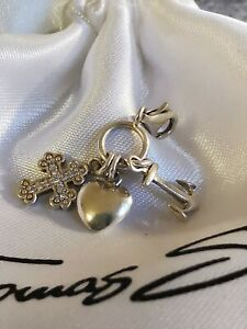Thomas Sabo Charm Kreuz Herz Anker mit Zirkonia 925 Silber